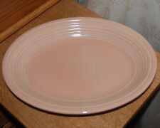 "Homer Laughlin Light Peach Apricot Fiesta ware 11.5"" Medium Oval Platter"