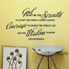 QUE Vivid Elegant Beautiful Lovely Home God Grant Me English Words Wall Sticker