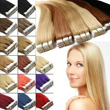 Tape in Grade 7A 100% Remy Human Hair Extensions Virgin 20/40pcs Skin Weft AU