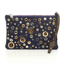 Dolce & Gabbana Studded Violet Wristlet Clutch Suede Small NEW $1350