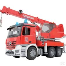 Bruder Mercedes Arcos Fire Engine With Crane And Sound Module 1:16 Scale Model