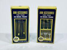 AHM HO Scale Model Train Accessories Telephone Poles 12 Piece