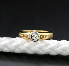 Anillo brillante 0.40 carat oro amarillo 585/Oro blanco macizo Solitario mit