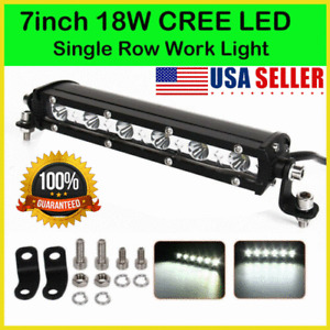 7inch 18W LED Work Light Bar Flood Spot Beam Offroad 4WD SUV Driving Fog Lamp US