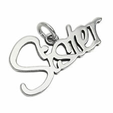 Sterling Silver Sister Charm Family Sis Charms