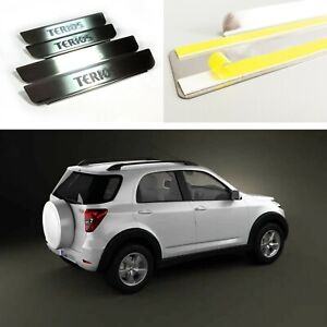 Threshold Protectors Door Sill Scuff Plate Steel Guards For Daihatsu Terios 08-