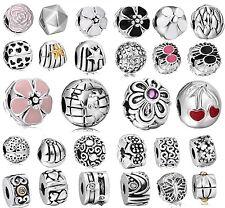 New Clip Clasp Flower Serie Bead Handmade Jewelry Fit 925 Silver Charm Bracelets