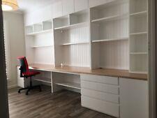 """Sunrise 1.0"" Integrated Study Room Wall Unit Bookshelf Computer Desk Storage"