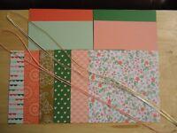 """Stampin Up GOLD SOIREE 6 X 6"""" Designer Paper Card Kit Ribbon RARE"""