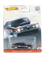 Hot Wheels Premium 2020 Car Culture Power Trip 1/5 Black Plymouth Barracuda Hemi
