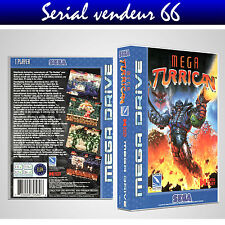 "BOX, CASE ""MEGA TURRICAN"". MEGADRIVE. BOX + COVER PRINTED. NO GAME. MULTILINGUAL"