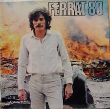 Jean Ferrat - Ferrat 80 LP VG 598.014 Vinyl 1980 Disques Temey France Pop