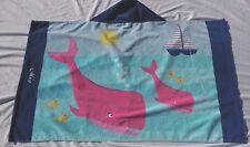 "Pottery Barn Kids Classic Whale Beach Wrap Monogrammed ""Mia"" Nwot"