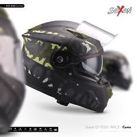 SOXON ST-1000 RACE CAMO -FULL FACE MOTORBIKE HELMET ARMY CAMOUFLAGE INTEGRAL ECE