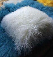 """Mongolian Long Curly Wool Sheepskin Cushion 50X50cm/ 20""""  Pillow & Cushion Inner"""