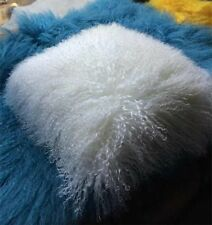 "Mongolian Long Curly Wool Sheepskin Cushion 50X50cm/ 20""  Pillow & Cushion Inner"