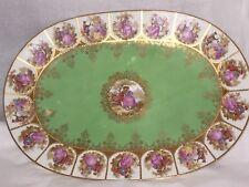 Hutschenreuther Germany Fragonard porcelain oblong large centerpiece platter