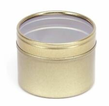 Candle Tins (GOLD) 100ml (x 10) Perfect For Container Candles, Confectioneries