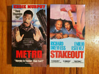 (Lot2) Metro 1997 Stakeout 1987 VHS RARE ORIGINAL HTF OOP Action Comedy