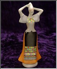 Stunning Vtg  Aquincum Budapest Folk Porcelain Woman Figurine