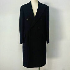 Vintage Dunhill Tailors NY Overcoat Chesterfield Double Breasted Navy 38L 710702