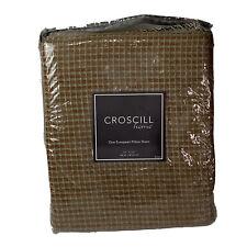 "Croscill Home European Pillow Sham Laviano 27"" X 27"" Light Brown Gray/Green"