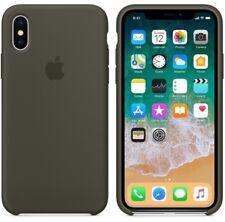 GENUINE ORIGINAL Apple Silicone Case Silikonhülle fur iPhone X-DARK OLIVE