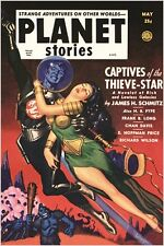 vintage comic book cover poster PLANET STORIES sexy OUTER SPACE STORY 24X36