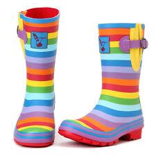 Rainbow Rain Boots US Size 5 (UK 3 / EU36)