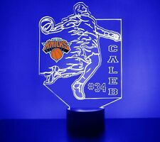 New York Knicks LED Night Light Personalized FREE NBA Basketball Light Up LED
