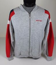 VINTAGE ADIDAS RUSTY HEATHER GRAY FULL ZIP UP TRACK SUIT JACKET SIZE S M COAT