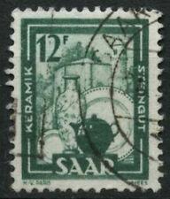 Saar 1949-51 SG#272, 12f Pottery Definitive Used #A81235