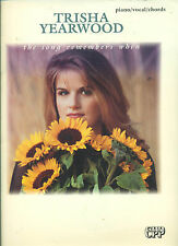 """TRISHA YEARWOOD """"THE SONG REMEMBERS WHEN"""" PIANO/V/GUITAR CHORDS MUSIC BOOK RARE!"""