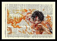 One Piece Ace Anime Dictionary Art Print Poster Picture Manga Book Luffy Brother