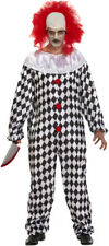 Scary Clown Costume & Wig - Halloween Fancy Dress Costume Pennywise It
