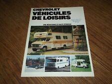 CATALOGUE CHEVROLET VAN, CAMPING CAR 1976.