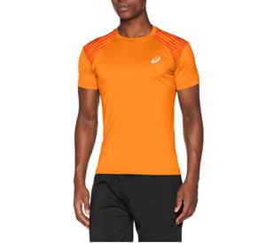 Asics Men's Running Top FuzeX Short Sleeve Sports Top - Orange Pop - New