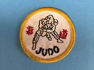 Rare 1970's Judo Martial Arts Uniform Gi Jacket Hat Patch Crest MMA 642