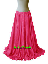 "40"" Long Satin Full Circle Skirt Swing Belly Dance Costume Tribal Jupe Rock юбка"