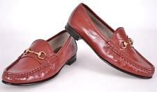 NEW GUCCI 338348 VERNICE RED PATENT LEATHER HORSEBIT LOAFERS SHOES 35.5 5.5