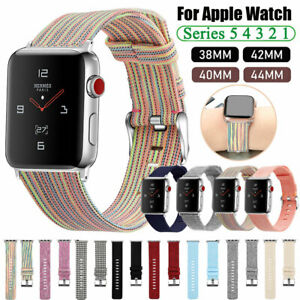 Fabric Canvas iWatch Band Strap for Apple Watch Series 5 4 3 2 1 40/44mm 38/42mm