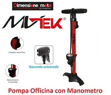 0725 - Pompa Officina con Manometro MV-TEK 11-Bar per Bici 26-28 Corsa Strada