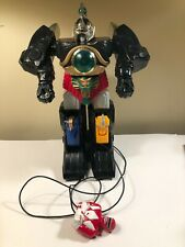 "Vintage Power Rangers Megazord 1994 Empire THUNDERZORD w/remote 15"" not working"