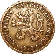 Czechoslovakia 10 Haleru 1922 KM#3 (T-15) REPUBLIKA ČESKOSLOVENSKÁ