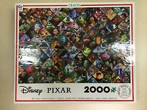 🟢 Disney Pixar Characters Collage 2000 Piece Jigsaw Puzzle Ceaco