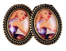 Edle Vintage 50s PIN UP Girl Retro Ohrstecker Rockabilly Ohrschmuck Ohrring