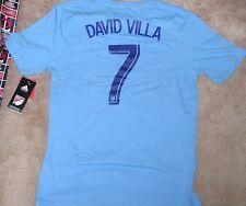 NEW MLS NY New York City FC David Villa Jersey T Shirt ADIDAS Youth M 10 12 NWT