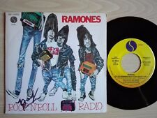 RAMONES – ''ROCK 'N' ROLL RADIO?'' – PROMO SPANISH VINYL SINGLE. HAND SIGNED MR