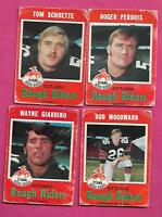 1971 OPC CFL OTTAWA ROUGH RIDERS CARD LOT  (INV# J0183)