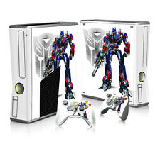Xbox 360 Slim Console Skin Decal Sticker Transformer + 2 Controller Custom Set